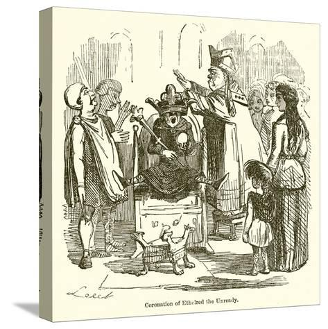 Coronation of Ethelred the Unready-John Leech-Stretched Canvas Print