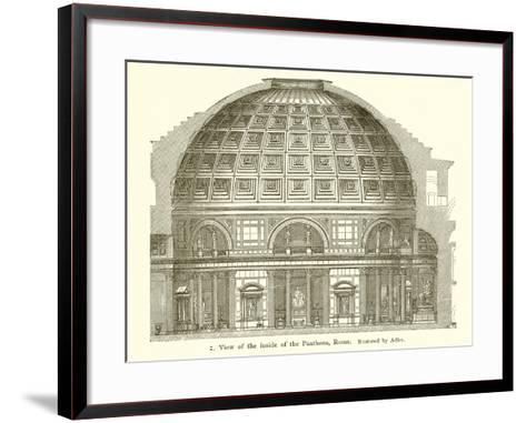 Visit of the Inside of the Pantheon, Rome--Framed Art Print