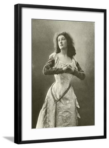 Miss Eames as Juliet--Framed Art Print