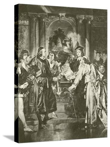 Merchant of Venice. Act Iv-Scene I-Felix Octavius Carr Darley-Stretched Canvas Print
