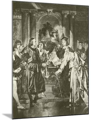 Merchant of Venice. Act Iv-Scene I-Felix Octavius Carr Darley-Mounted Giclee Print