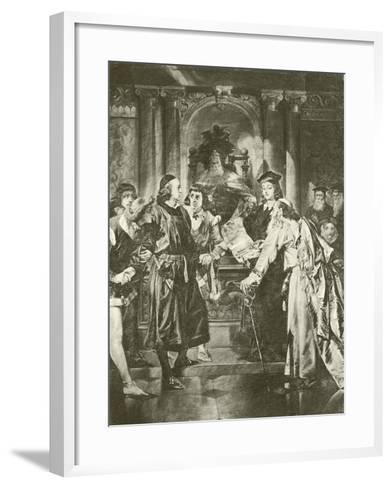 Merchant of Venice. Act Iv-Scene I-Felix Octavius Carr Darley-Framed Art Print