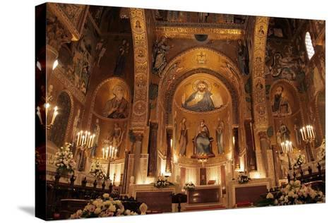 The Cappella Palatina at the Palazzo Reale in Palermo Sicily--Stretched Canvas Print