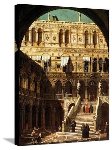 The Giants' Steps, Venice, 1765-Canaletto-Stretched Canvas Print