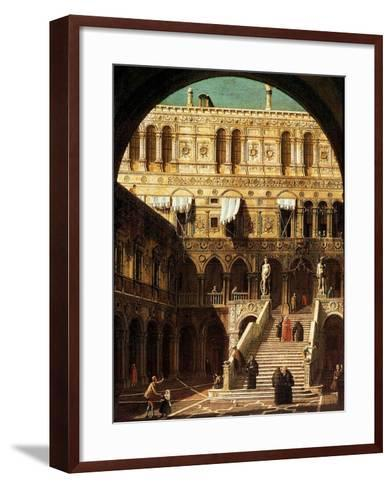 The Giants' Steps, Venice, 1765-Canaletto-Framed Art Print