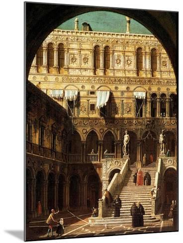 The Giants' Steps, Venice, 1765-Canaletto-Mounted Giclee Print