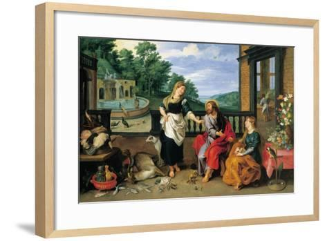 Christ in the House of Martha and Mary-Jan Brueghel the Younger-Framed Art Print