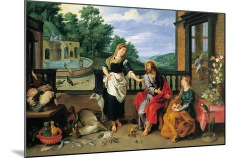 Christ in the House of Martha and Mary-Jan Brueghel the Younger-Mounted Giclee Print
