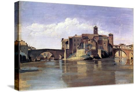 The Island of San Bartolomeo, 1826-28-Jean-Baptiste-Camille Corot-Stretched Canvas Print