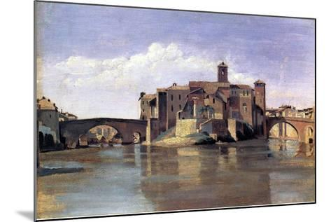 The Island of San Bartolomeo, 1826-28-Jean-Baptiste-Camille Corot-Mounted Giclee Print