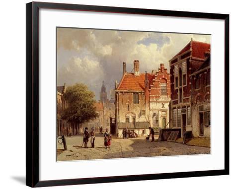A Dutch Town Square, 1860-Willem Koekkoek-Framed Art Print
