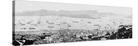 Panorama of Hong Kong Harbour, C.1878--Stretched Canvas Print