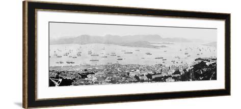 Panorama of Hong Kong Harbour, C.1878--Framed Art Print