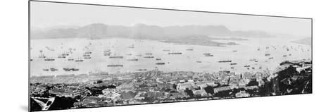 Panorama of Hong Kong Harbour, C.1878--Mounted Photographic Print