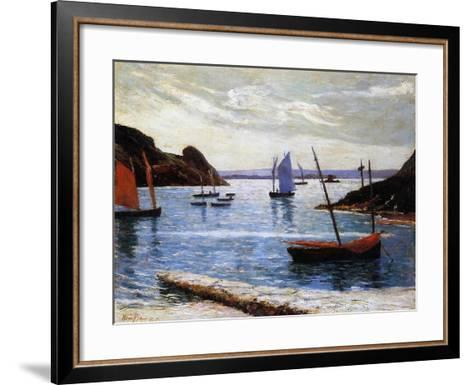 The Port, Island of Brehat, Brittany, 1892-Maxime Emile Louis Maufra-Framed Art Print