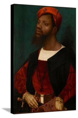 Portrait of an African Man, C.1530-Jan Mostaert-Stretched Canvas Print