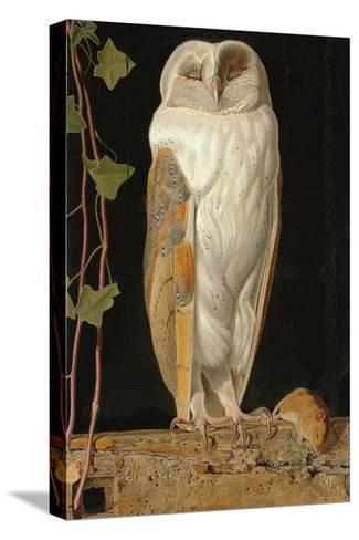 The White Owl: 'Alone and Warming His Five Wits, the White Owl in the Belfry Sits', 1856-William J^ Webbe-Stretched Canvas Print