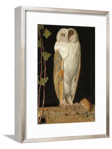 The White Owl: 'Alone and Warming His Five Wits, the White Owl in the Belfry Sits', 1856-William J^ Webbe-Framed Art Print