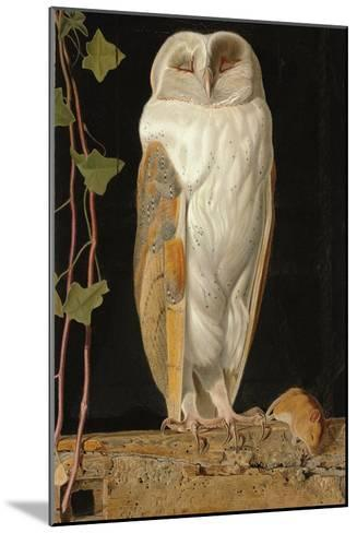 The White Owl: 'Alone and Warming His Five Wits, the White Owl in the Belfry Sits', 1856-William J^ Webbe-Mounted Giclee Print