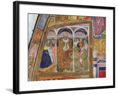 St. Francis Imploring Pope Honorius III for the Confirmation of the Indulgence, Fresco from the…-Ilario da Viterbo-Framed Art Print