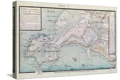 Atlas 131 H.Fol 71 Map of Part of Bas-Poitou and the Ile De Noirmoutier, 1703-Claude Masse-Stretched Canvas Print