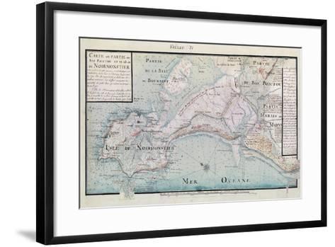 Atlas 131 H.Fol 71 Map of Part of Bas-Poitou and the Ile De Noirmoutier, 1703-Claude Masse-Framed Art Print