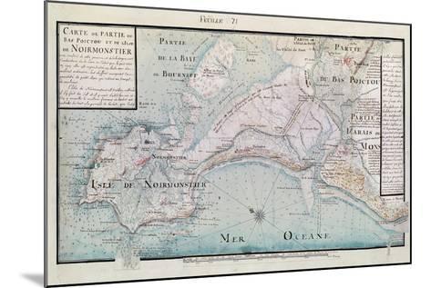 Atlas 131 H.Fol 71 Map of Part of Bas-Poitou and the Ile De Noirmoutier, 1703-Claude Masse-Mounted Giclee Print
