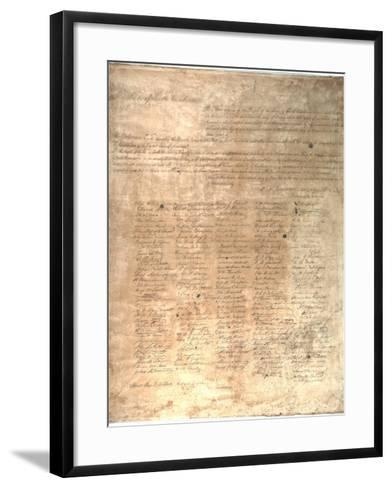 The Ordinance of Secession for the State of South Carolina, 1861--Framed Art Print