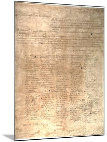 The Ordinance of Secession for the State of South Carolina, 1861--Mounted Giclee Print