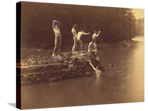 Study for the Swimming Hole, 1883-Thomas Cowperthwait Eakins-Stretched Canvas Print