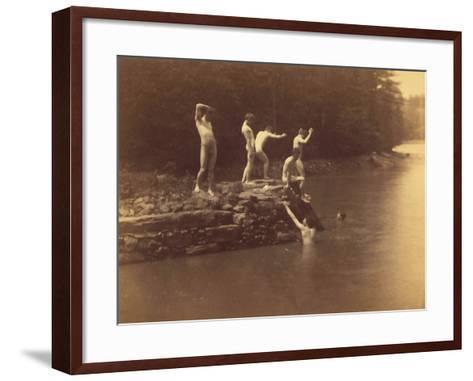 Study for the Swimming Hole, 1883-Thomas Cowperthwait Eakins-Framed Art Print
