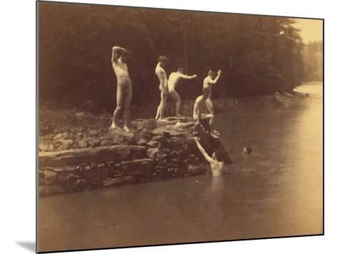 Study for the Swimming Hole, 1883-Thomas Cowperthwait Eakins-Mounted Photographic Print