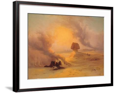 A Caravan Caught in the Sinum Wind Near Gizah-Johann Jakob Frey-Framed Art Print