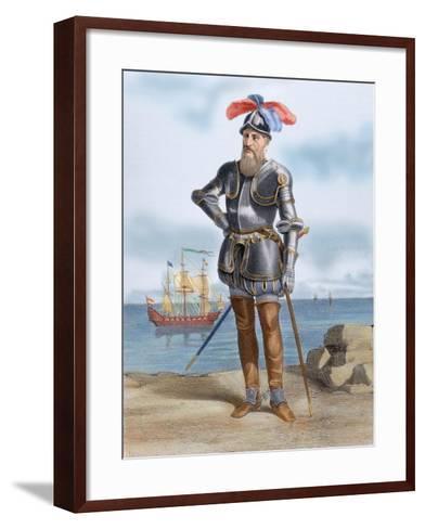 Francisco Pizarro Y Gonzalez, 1st Marquess of Los Atabillos (C.1471 or 1476-1541). Spanish…--Framed Art Print