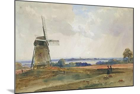 The Windmill, C.1840-Peter De Wint-Mounted Giclee Print