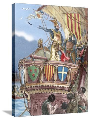 James I the Conqueror (1208-1276). Count of Barcelona and King of Aragon (1213-1276), Valencia…--Stretched Canvas Print
