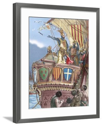 James I the Conqueror (1208-1276). Count of Barcelona and King of Aragon (1213-1276), Valencia…--Framed Art Print