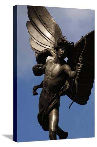 Statue of Anteros, or the Angel of Christian Charity, Shaftesbury Memorial Fountain, Piccadilly…-Alfred Gilbert-Stretched Canvas Print