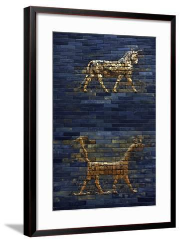 Ishtar Gate. The Eight Gate of the Inner Wall of Babylon. Built in 575 BC by Order to…--Framed Art Print