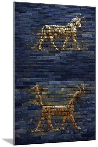 Ishtar Gate. The Eight Gate of the Inner Wall of Babylon. Built in 575 BC by Order to…--Mounted Giclee Print