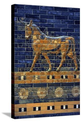 Mesopotamian Art. Neo-Babylonian. Ishtar Gate, One of the Eight Gates of the Inner Wall of…--Stretched Canvas Print