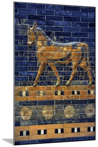 Mesopotamian Art. Neo-Babylonian. Ishtar Gate, One of the Eight Gates of the Inner Wall of…--Mounted Giclee Print