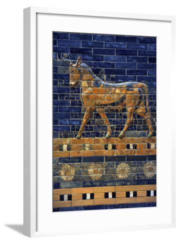Mesopotamian Art. Neo-Babylonian. Ishtar Gate, One of the Eight Gates of the Inner Wall of…--Framed Art Print