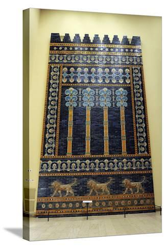 Mesopotamian Art. Neo-Babylonian. The Throne Room of Nebuchadnezzar II. Reconstructed Facade.…--Stretched Canvas Print