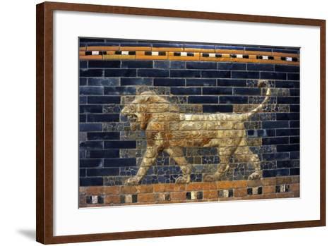 Mesopotamian Art. Neo-Babylonian. The Throne Room of Nebuchadnezzar II. Reconstructed Facade.…--Framed Art Print