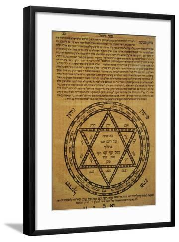 Judaism. Divine Protection. Amulets. Often Consisted of Scrolls Written in Hebrew and the Texts?--Framed Art Print