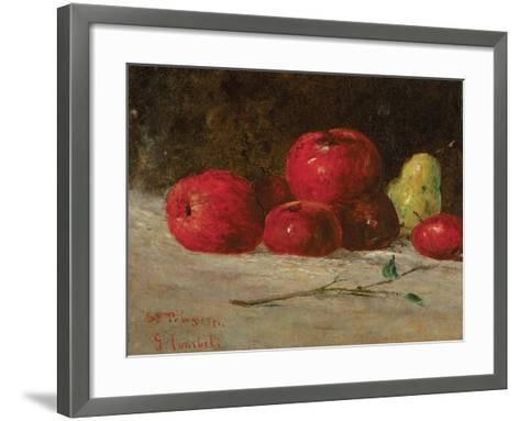 Still Life, Apples and Pears, 1871-Gustave Courbet-Framed Art Print