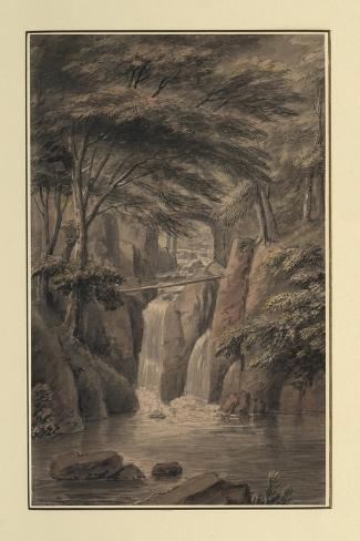 Cascade at Sir Michael Fleming's, 1780-Coplestone Warre Bampfylde-Stretched Canvas Print
