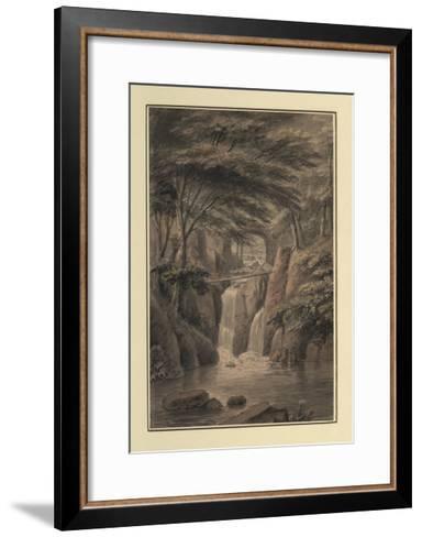 Cascade at Sir Michael Fleming's, 1780-Coplestone Warre Bampfylde-Framed Art Print