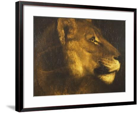 Head of a Lioness-Th?odore G?ricault-Framed Art Print